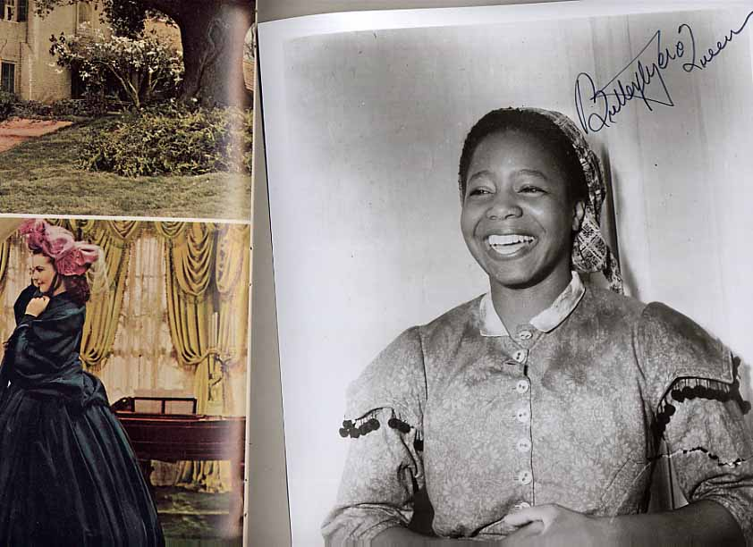 Image for The Story Of Gone With The Wind. (souvenir program) + Signed Portrait of Butterfly McQueen.