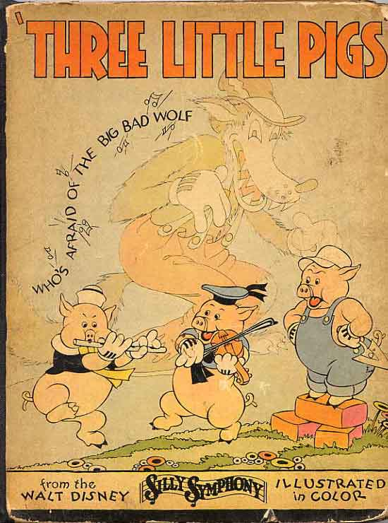 Image for Three Little Pigs. From Walt Disney Silly Symphony.