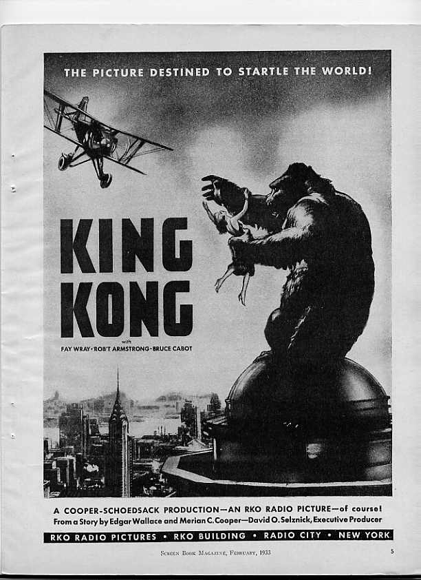 Image for King Kong Movie Ad