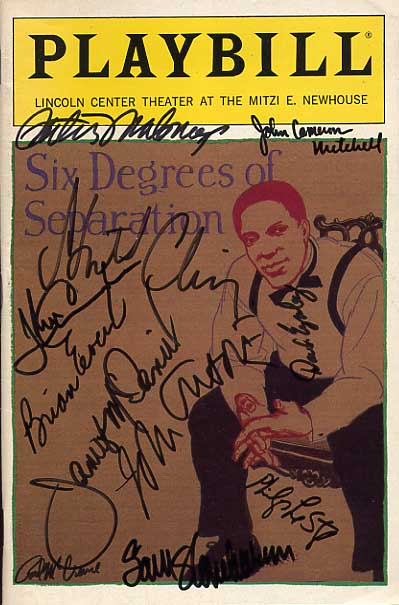 Image for Six Degrees Of Separation Signed Playbill
