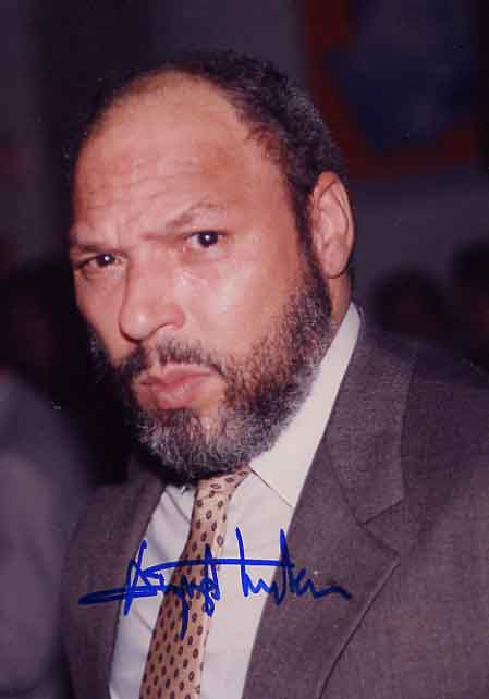 Image for Signed August Wilson Photograph and copy of Seven Guitars