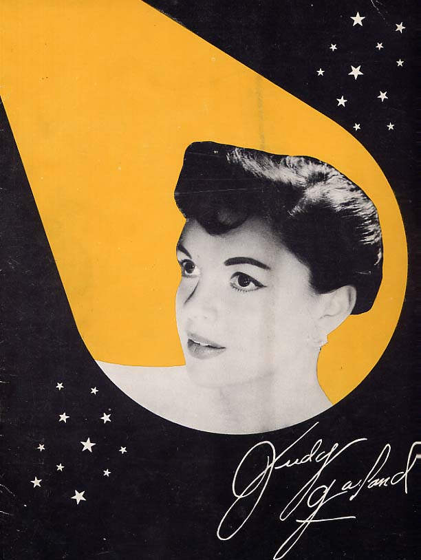 Image for Judy Garland At The Palace Souvenir Program