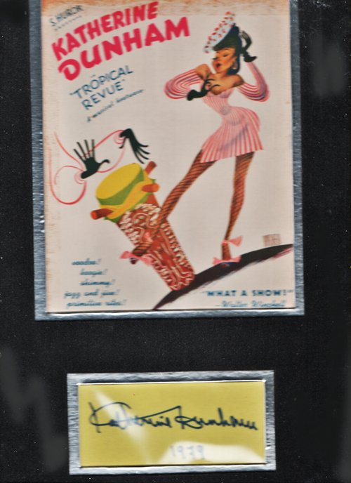 Image for Katherine Dunham Hirschfeld Herald with Signature