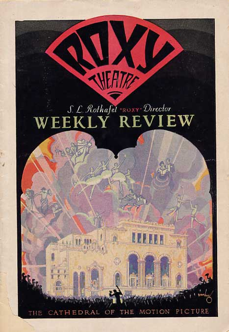 Image for Roxy Theatre Weekly Review Program