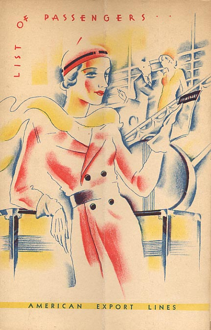 Image for Art Deco List Of Passengers