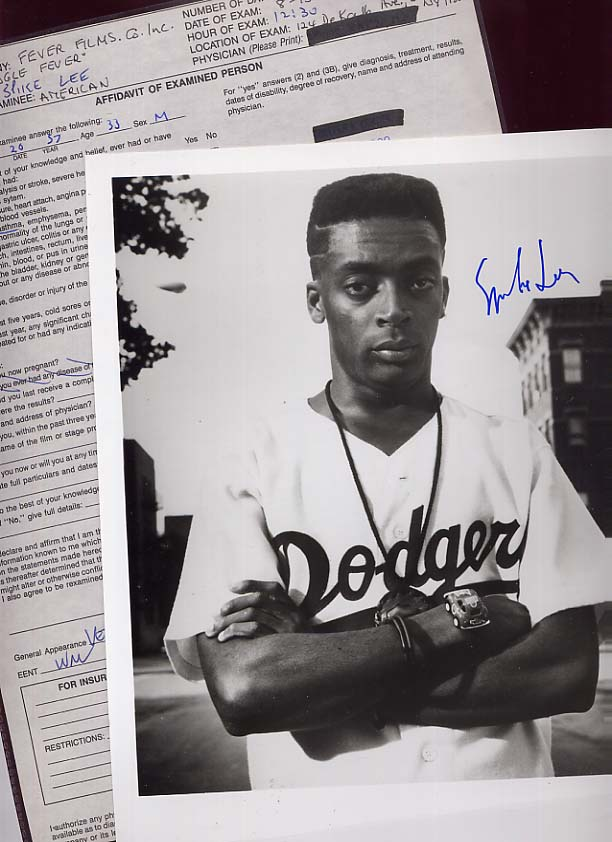 Image for Spike Lee Physical Examination and Signed Photograph