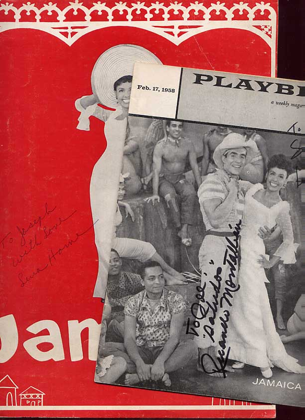 Image for Lena Horne Signed Jamaica Program