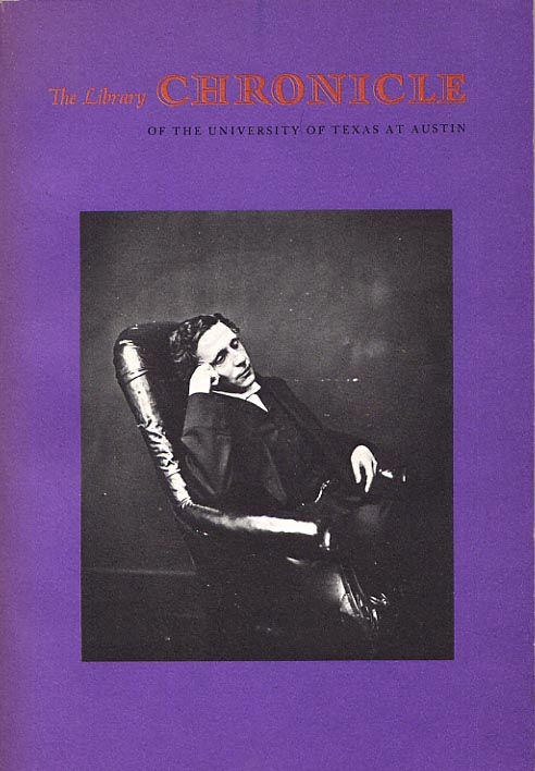 Image for Lewis Carroll at Texas. The Library Chronicle