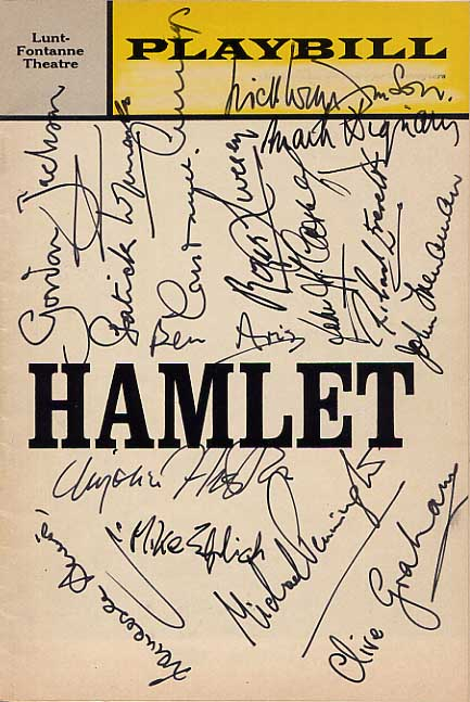 Image for Signed Hamlet Playbill