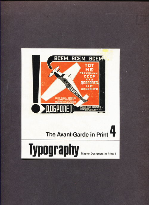 Image for Typography.  The Avant-Garde In Print Vol. 4