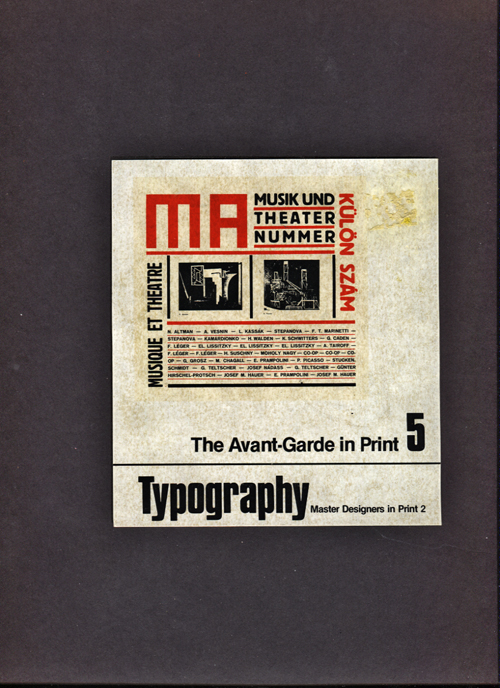 Image for Typography.  The Avant-Garde In Print Vol. 5