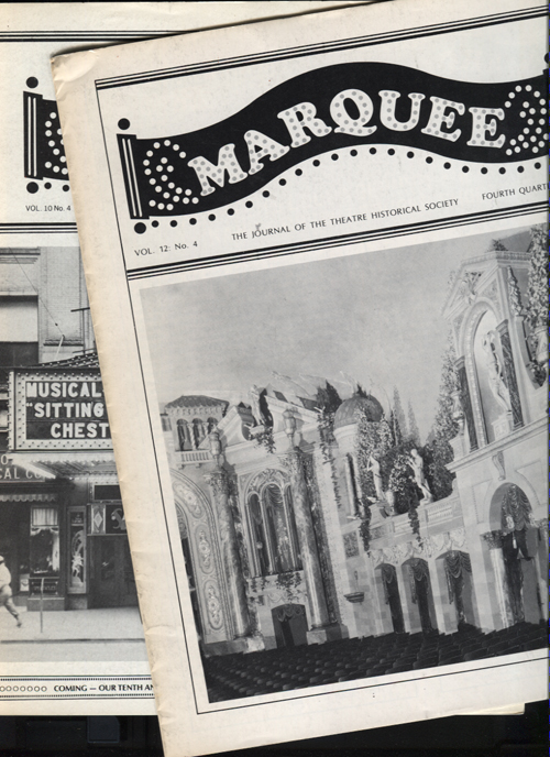 Image for Marquee. The Journal of the Theatre Historical Society