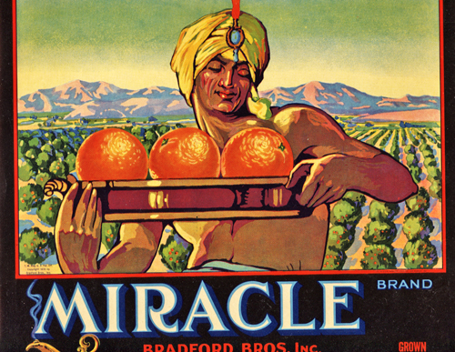 Image for Original Orange Crate Label for Miracle Brand