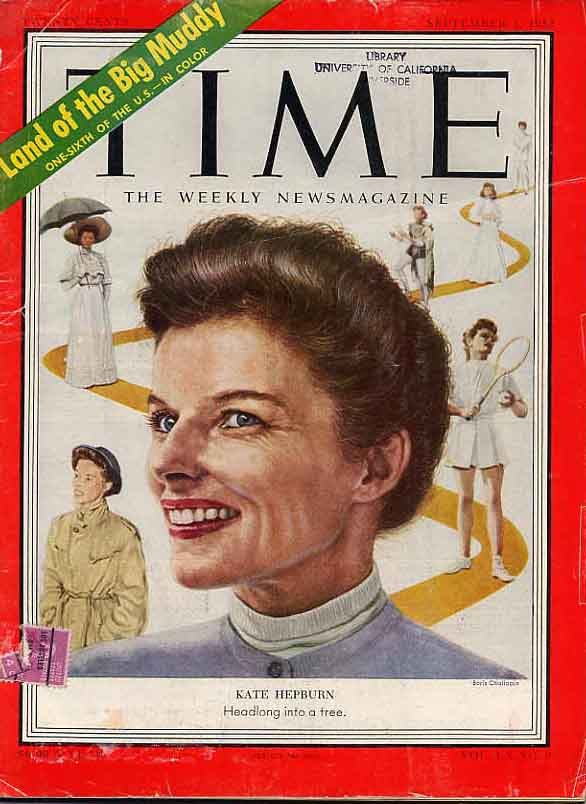 Image for Katharine Hepburn Time Magazine and Various Programs