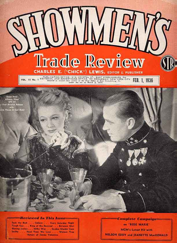 Image for Showmen's Trade Review Magazine