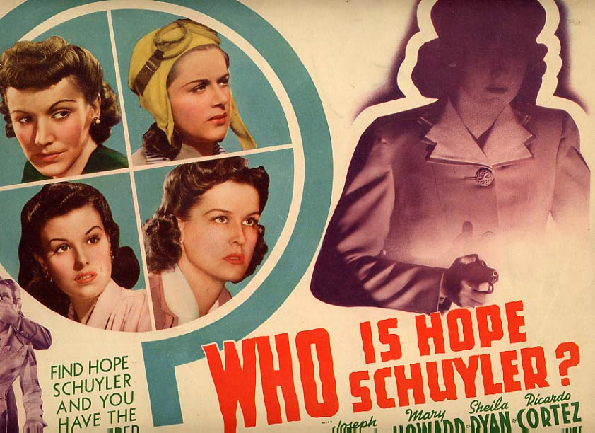 Image for Who Is Hope Schuyler? Lobby Card