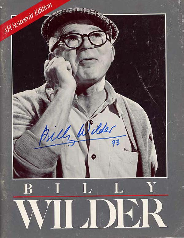Image for Billy Wilder. The Fourteenth Annual American Film Institute Life Achievement Award Souvenir Program