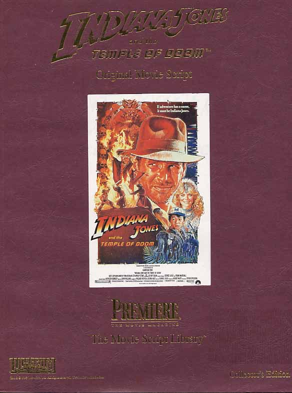 Image for Indiana Jones And The Temple Of Doom Original Movie Script