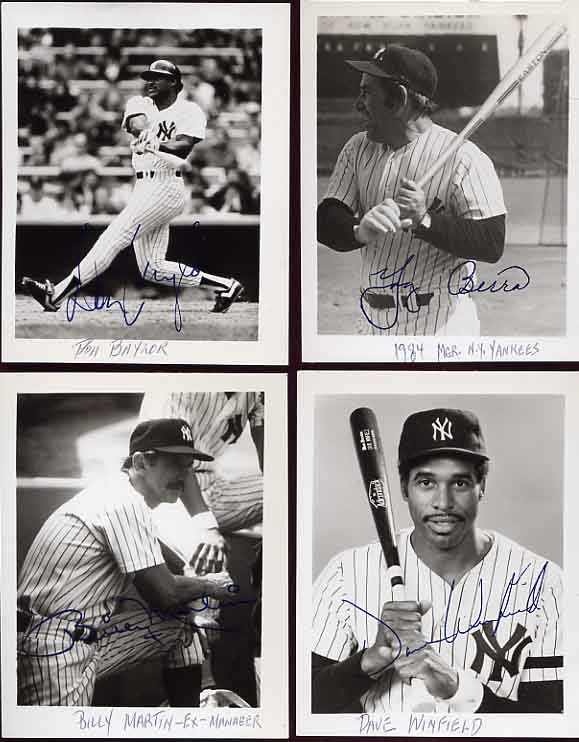 Image for Signed Photos of the 1983-1984 New York Yankees Baseball Team