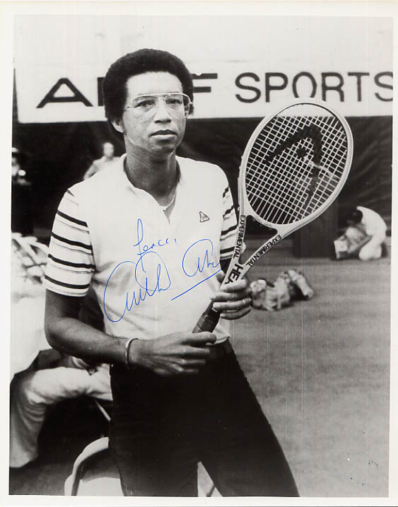 Image for Inscribed and Signed Arthur Ashe Portrait