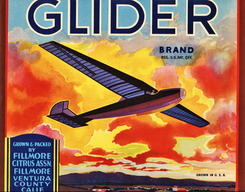 Image for Original Orange Crate Label for Glider Brand