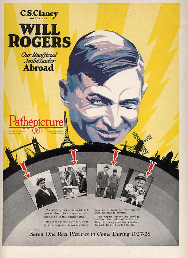 Image for Will Rogers Ad